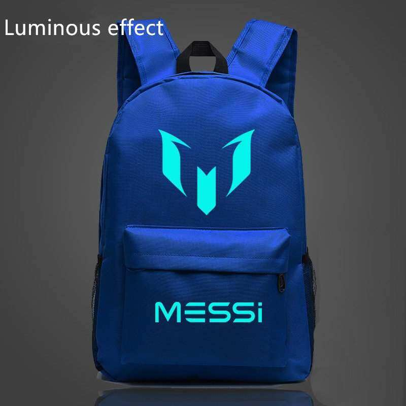 EYQTOUS 18.5inch Blue Barca Backpack Lionel Messi Glow Backpack Teenagers  Bags School Printing for Backpack 8f5170f43ff88