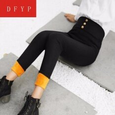 2017 Autumn And Winter Plus Cashmere Thickening Wear Wild Pencils Pants Legs Pants Legs Pants Women Plus Cashmere Pants Women Winter New High Waist Pants By Dfyp.