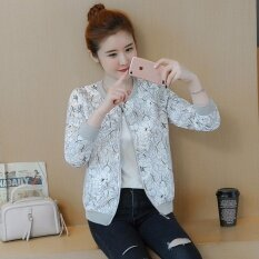 Womens New Print Jacket Korean Loose Long-Sleeved Baseball Jacket By Mansy Trade.