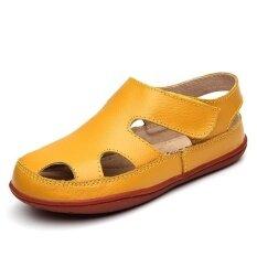2017 fashion Genuine leather kids sandals children shoes cutout boys girls sandals (EU SIZE 25