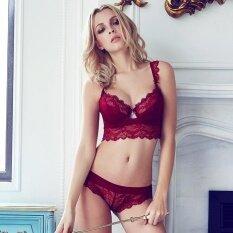 4c8270b6cd189 2018 Fashion transparent sexy bra set plus size Women gauze embroidery  ultra-thin underwear set