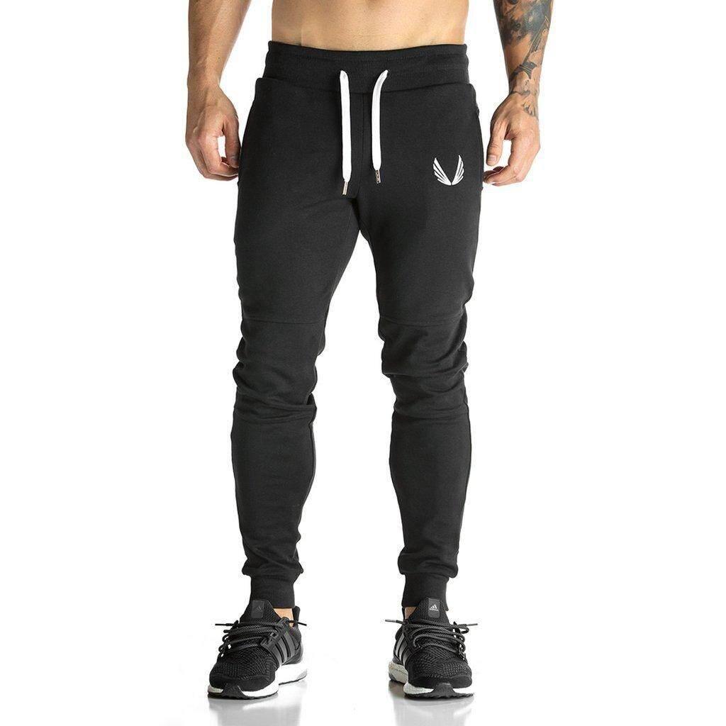 ace8465ad 2017 Men Sportswear Pants Casual Elastic Cotton Mens Fitness Workout Pants  Skinny Sweatpants Trousers Jogger Pants