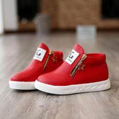 fde9c7be9dc 2017 New Fashion Children Breathable Zip Kids Casual Shoes Spring Autumn  Boys Girls Sport Sneakers