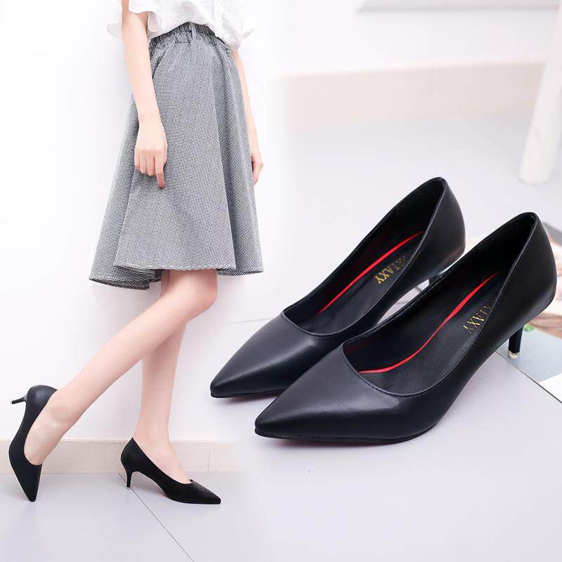 beae7c7a820 2017 New Fashion Ladies Solid Color Point Toe Sexy High Heel Shoes