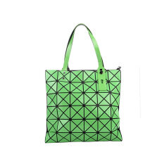 c954cf9e92 2017 New Handbag BaoBao Bag Female Folded Geometric Plaid Bag BAO BAO  Fashion Casual Tote Women