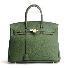 BeeGreen (S) Luxury Fashion Classic 100% Genuine Leather Women Bag Famous Handbag Cowhide ladies Tote Bag Platinum Clutch bag