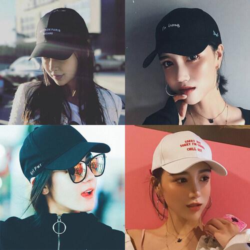 2017 Gaya Baru Musim Panas Topi Wanita Korea Pria Pasang 100 Mengambil Siswa Musim Panas Kepala Besar wajah Sangat Sesuai Bulat Wajah Sored Cap-Intl