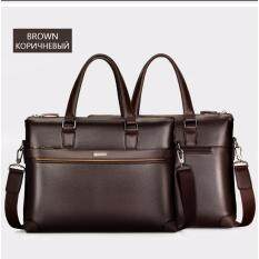 2017 Top Sell Fashion Simple Dot Famous Brand Business Men Briefcase Bag  Leather Laptop Bag Casual 2e6b0586cf