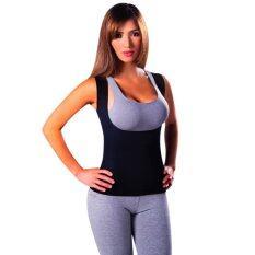 2017 women Neoprene breast care abdomen fat burning fitness body girly stretch yuga exercise vest Hot Slimming Shaper L(Black)