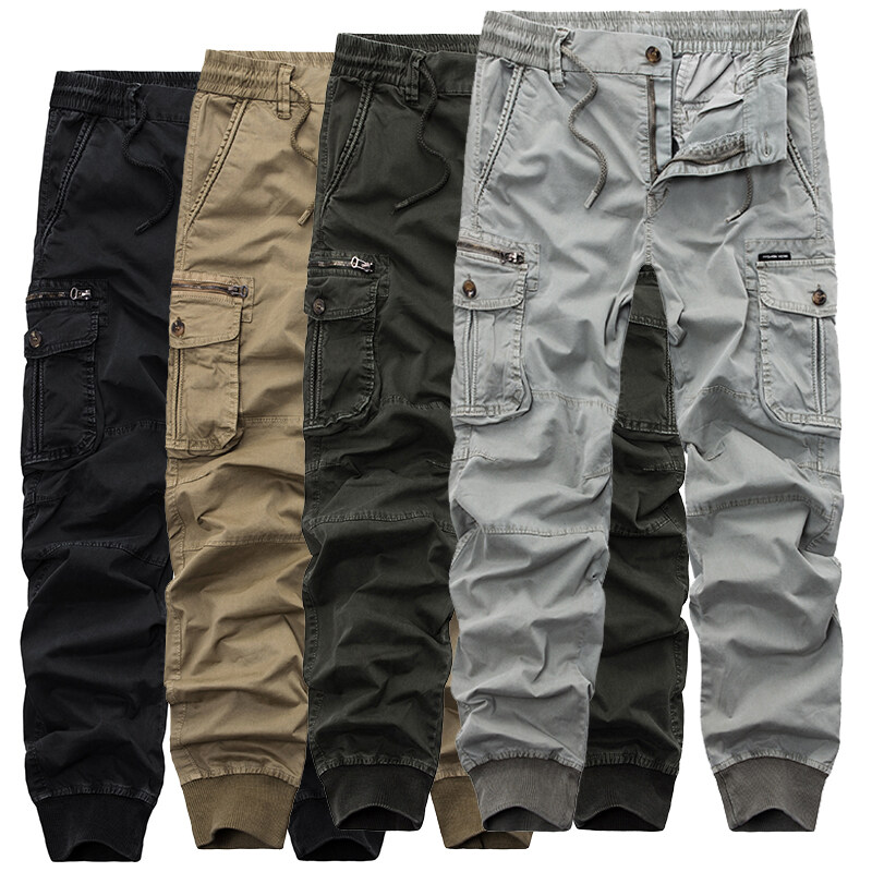 72958d7a4 2018 Mens Camouflage Tactical Cargo Pants Men Joggers Boost Military Casual  Cotton Pants Hip Hop Ribbon Male army Trousers 38 - intl