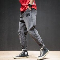 22bc8800db1 2018 New Brand Ripped Jeans Men with Holes Denim Super Skinny Famous  Designer Brand Slim Fit