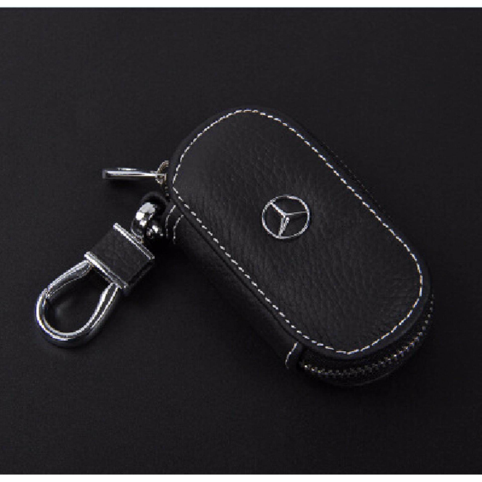 Best Rated 2018 New Luxury Style Leather Car Key Case Holder For Benz E300 E260 E200 Gle300 Gle350 Gle400 Gle450 Gle500 For Benz Key Black Intl