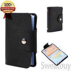 Men card holders buy men card holders at best price in malaysia ready stock 24 slots id credit card holder pu leather pocket wallet black reheart Images