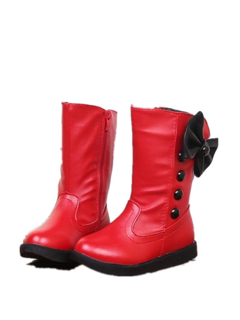 Giá bán 26-36 Nơ hàn quốc Nữ Giày Cao Cấp-Giày Trẻ Em Ủng-quốc tế
