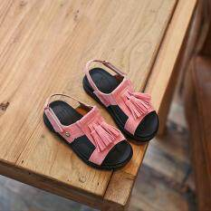3 Colors Girls Child Kids Tassel Summer Princess Peep Toe Sandals Casual Shoes I11 Pink By Crazy Store.