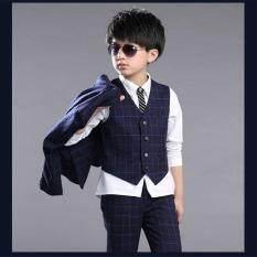3pcs Set Boys Formal Suit (dark Blue) By Orientar Store.