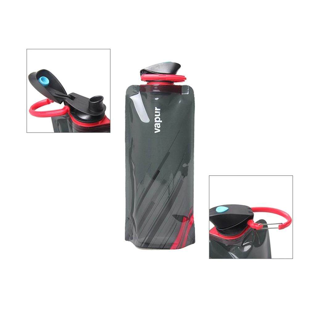 Cq 700ml Foldable Water Bottle Collapse Water Bag For Outdoor Camping Hiking Riding Fishing By Ciqi Trade.