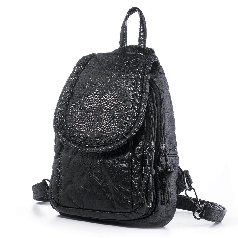 Abusun Faux Leather Small Backpacks for Women Teen Girls Shoulder Handbag for School Rucksack Bags Mini