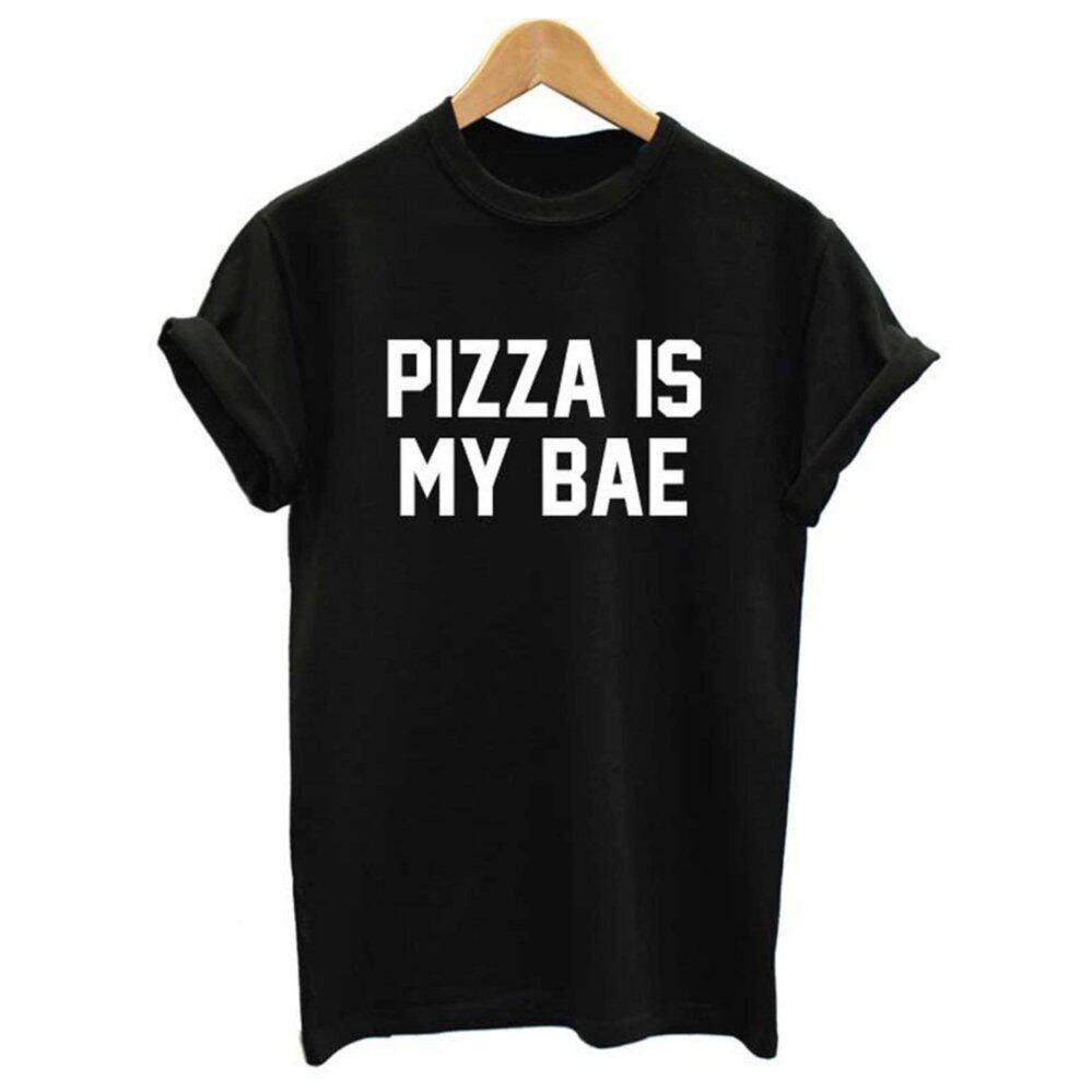 Addc Eropa dan Amerika Pizza Aku S My Bae Huruf Kaus Jalanan  Angin-Internasional 10e2ac96df