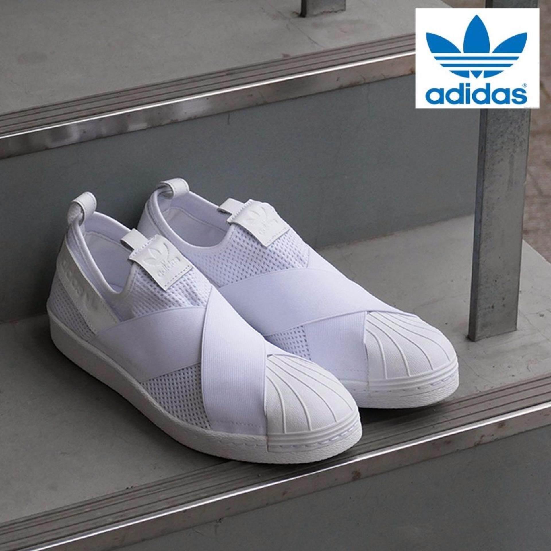 (Special SALE) Adidas New Originals Superstar Slip on (WhiteWhite) BY2885 Shoes 100% Original