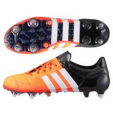 5214a74f140 ... Football Shoes. 100% Authentic - Adidas ACE 15.1 SG Leather - Solar  Orange White Core
