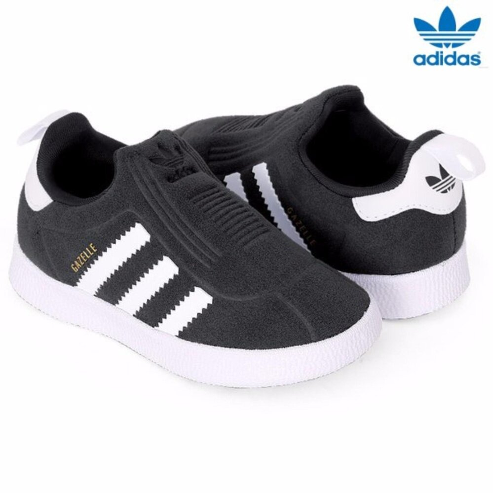 Adidas Anak-anak Pria Originals Gazelle 360 Sepatu BA7289 Bayi Sepatu Hitam  Putih- bc106206da