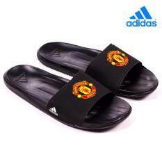 3b438fa6443 adidas Manchester United Slide Mens Flip Flop Sandal Black AQ3794