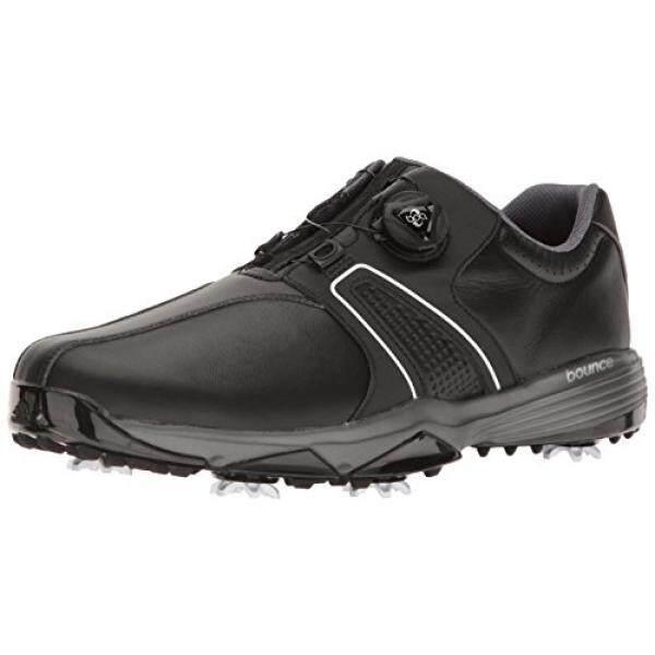 Adidas Pria 360 Traxion Boa Cblack/FT Sepatu Golf, Hitam, Sebagai-Internasional