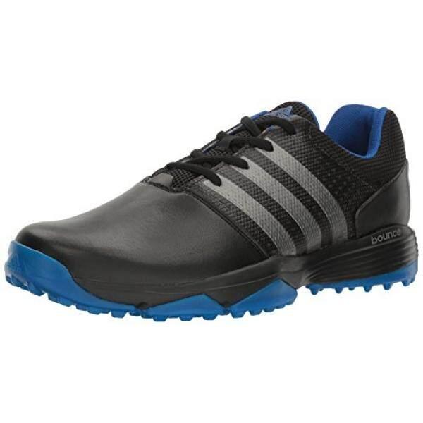 Adidas Pria 360 Traxion Cblack/Dksimt Sepatu Golf, Hitam, Sebagai-Internasional