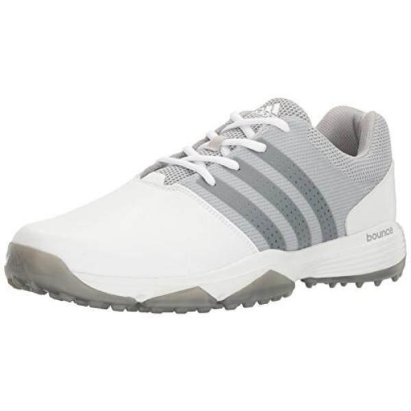 Adidas Pria 360 Traxion Ftwwht/Dksimt Sepatu Golf, Putih, AS-Internasional