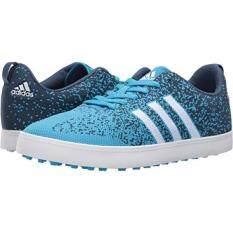Adidas Golf Adicross Primeknit Mens Cyan/Ftwr White/Mineral Blue W977894LP Shoes