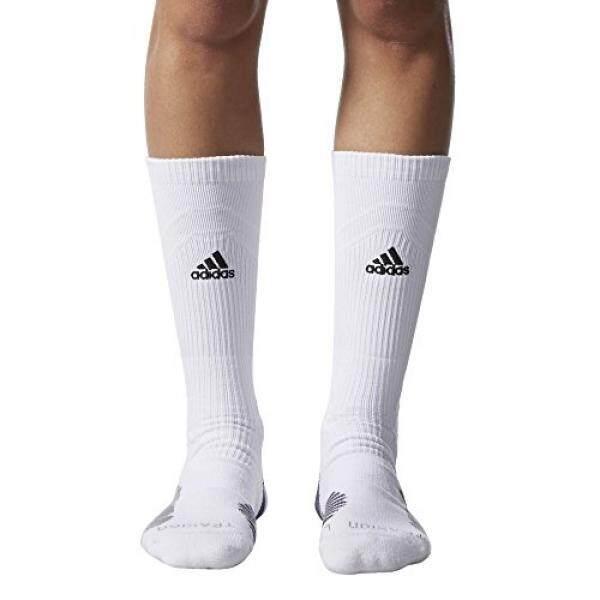Adidas Traxion Menace Sepak Bola/Bisbol Awak Kapal Kaus Kaki, Putih/Hitam/Ringan Onix/Onix,-Internasional
