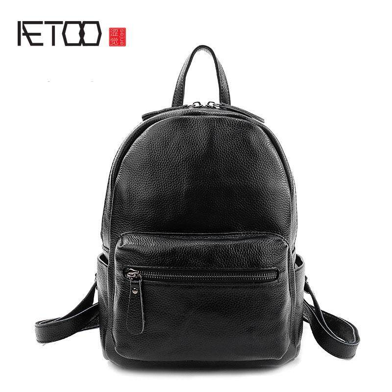 82b49174f7 AETOO The new litchi pattern leather shoulder bag women Europe and the  United States trendy leather