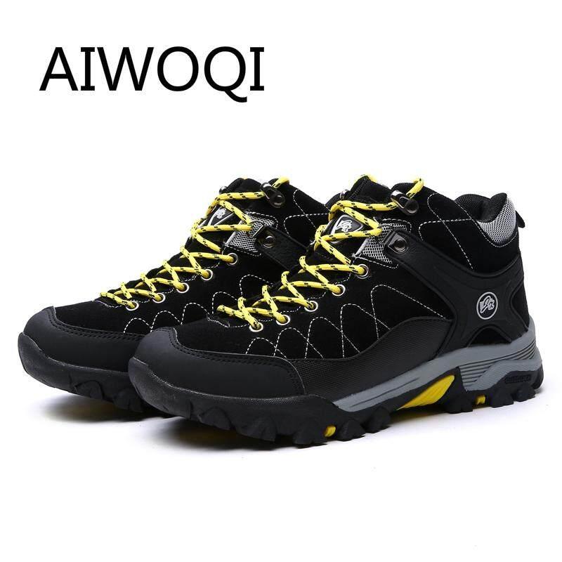 Rp 427.900. Aiwoqi Pria Wanita Rendah Anti-Air Non-slip Sepatu Daki Gunung Luar Ruangan Pendakian ...