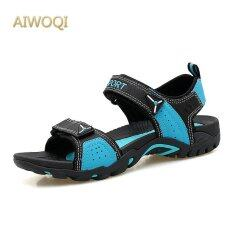 Aiwoqi Mens And Womens Outdoor Beach Sandals Sport Sandals (black Glue) By Iswell.