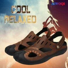 Aiwoqi Sport Sandals Genuine Leather Summer Shoes Men Slippers High Quality Casual Beach Shoes Flip Flops Hiking Shoes By Tongxu Life.