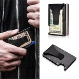 Stainless Steel RFID Blocking Slim Wallets Aluminum Money Clip For Women /& Men