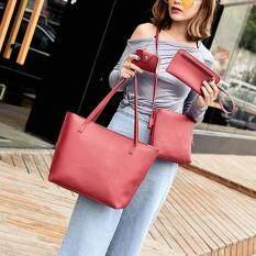 5d4d84369a8b0 Amart 4 Pcs/Set Simple Fashion Women Messenger Bags PU Leather Tote Handbag  Large Capacity