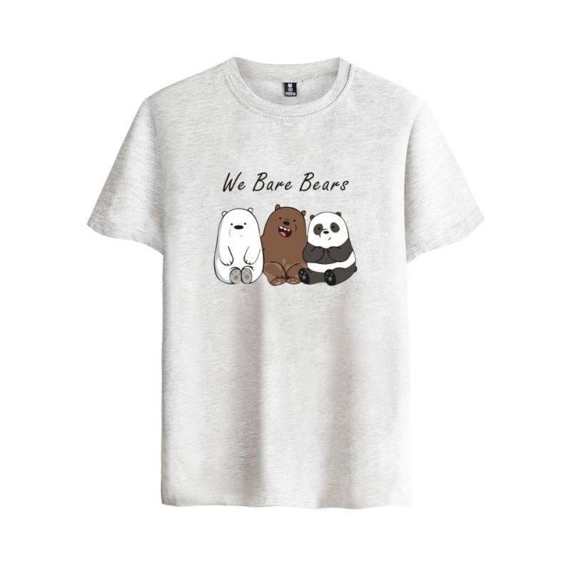Animated We Bare Bears Cotton T-shirt Tee SHIRT T Shirt Short Sleeve Sleeve  Men 2c5acb32f4c69