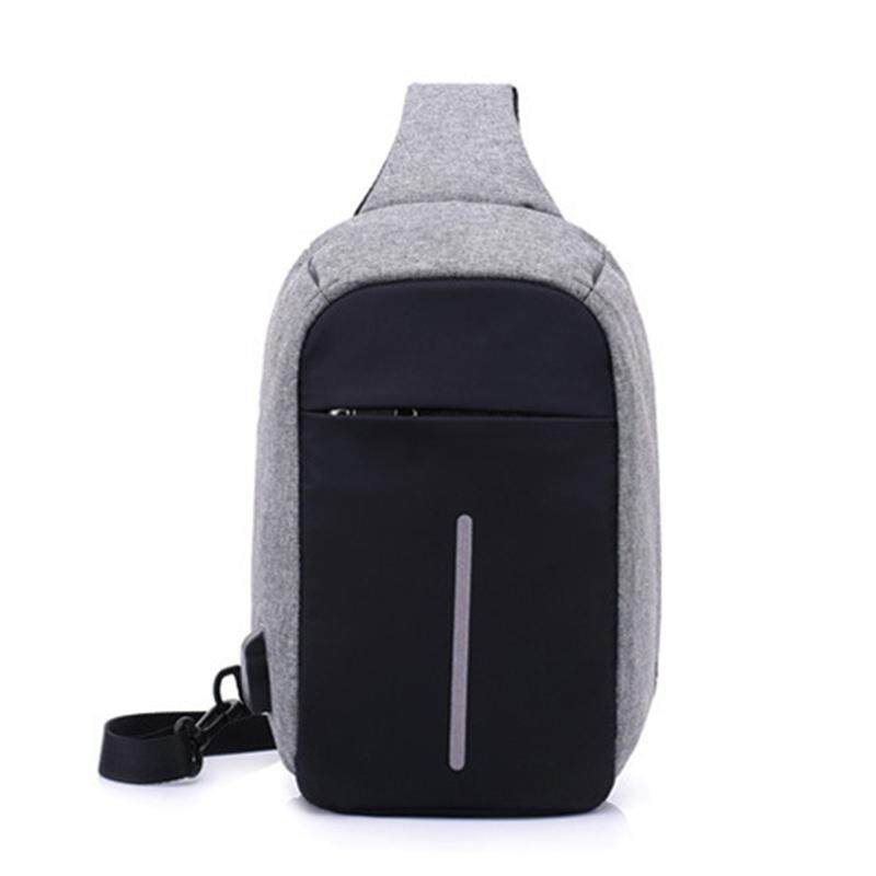 Sale Anti Theft Small Chest Crossbody Pack Usb Charge Polyester Travel Sport Bag Intl Oem Branded