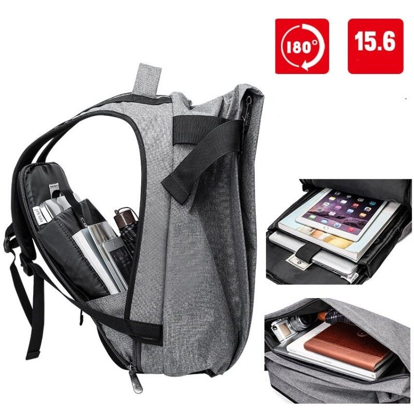 AnyCare High Quality Unisex Men Women Anti-theft 15.6inch Backpacks USB  Charging Port Business 54f3dad60dd27