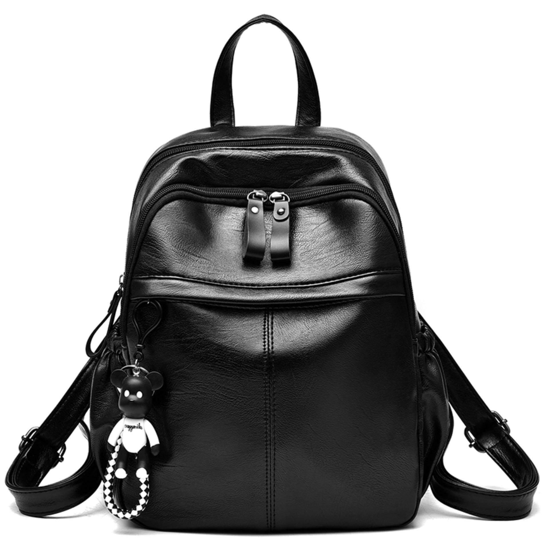Vicria Tas Branded Wanita High Quality Pu Leather New Brand Black Source Aoyi Women Backpacks Backpack For Teenage Girls Female