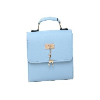 Sebagai Fashion Mini Tangan Daftar Muatan Bahu Wanita (Biru Langit)-Intl 17cde95df5