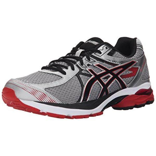 ASICS ASICS Mens GEL Flux 3 Running Shoe, Silver/Onyx/Racing Red, 12.5 M US - intl