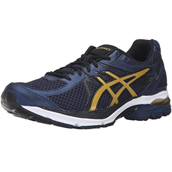 ASICS Mens Gel-Flux 3 Running Shoe, Dark Navy/Rich Gold/Black, US - intl