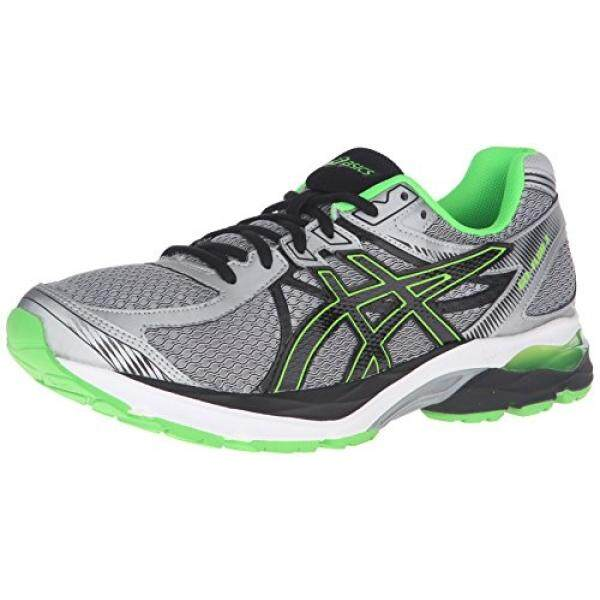 ASICS Mens Gel-Flux 3 Running Shoe, Lightning/Black/Green Gecko, US - intl