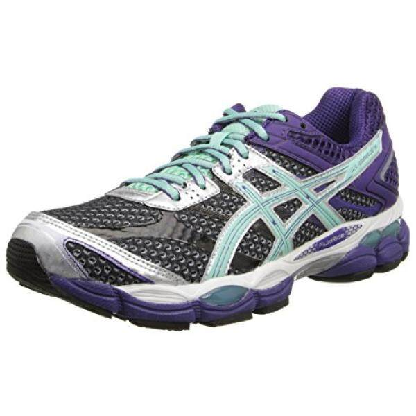 ASICS Womens Gel-Cumulus 16 Running Shoe,Onyx/Beach Glass/Purple, US - intl