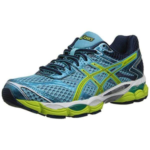 ASICS Womens Gel-Cumulus 16 Running Shoe,Turquoise/Sharp Green/Navy, US - intl