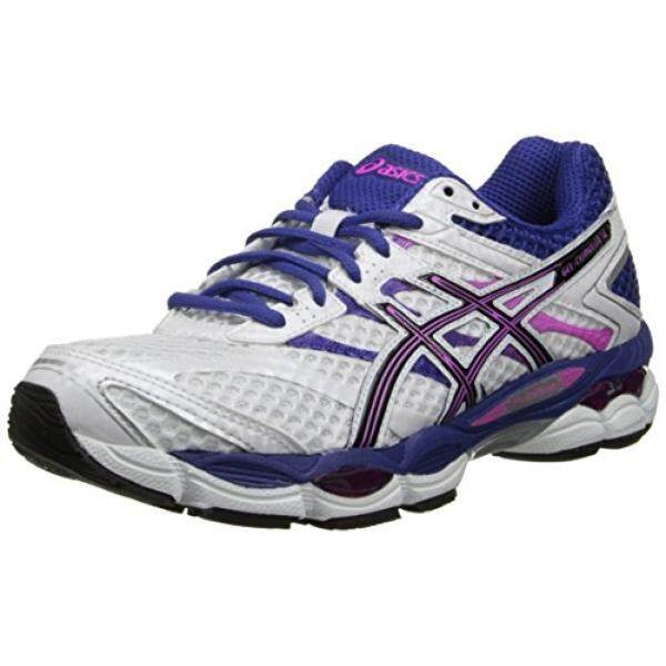 ASICS Womens Gel-Cumulus 16 Running Shoe,White/Black/Hot Pink,6 M US - intl