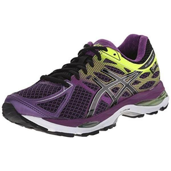 ASICS Womens Gel Cumulus 17 G TX Running Shoe, Plum/Onyx/Flash Yellow, US - intl